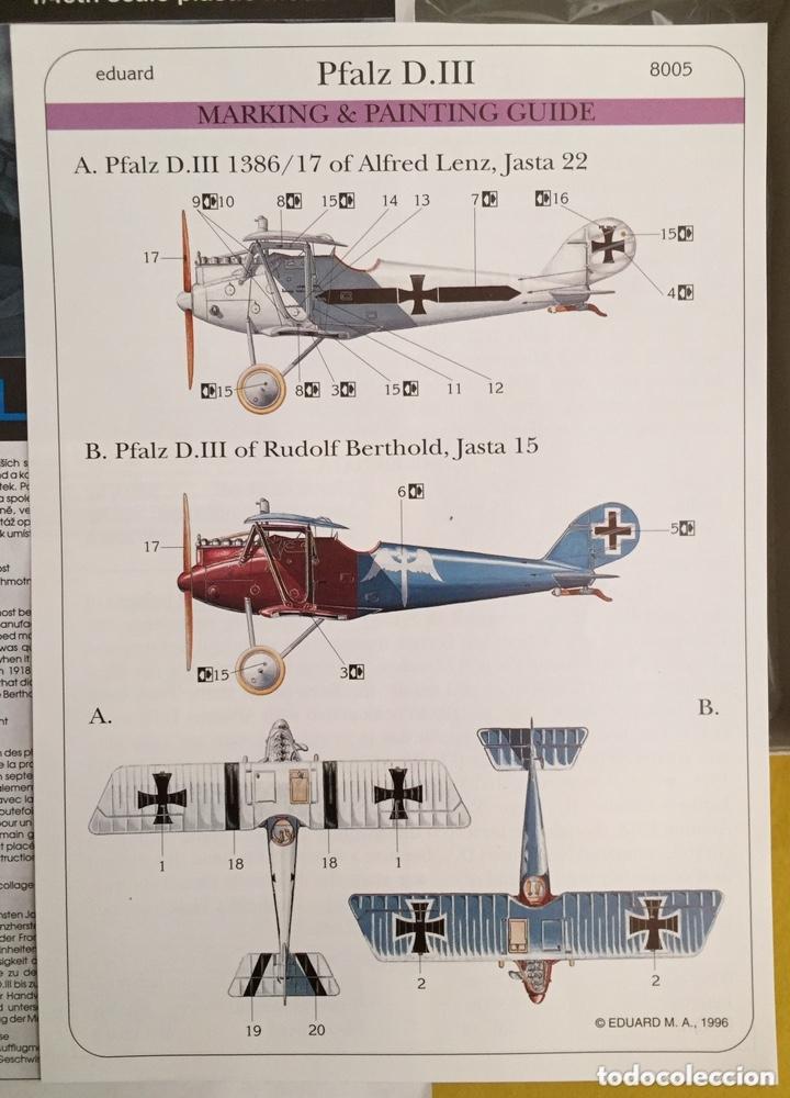 Maquetas: PFALZ D.III 1:48 EDUARD 8005 maqueta avión - Foto 2 - 173986214