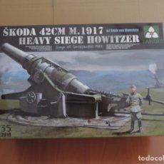 Maquetas: MAQUETA - TAKOM 2018 SKODA 42CM M.1917 HEAVY SIEGE HOWITZER 1/35. Lote 174178615