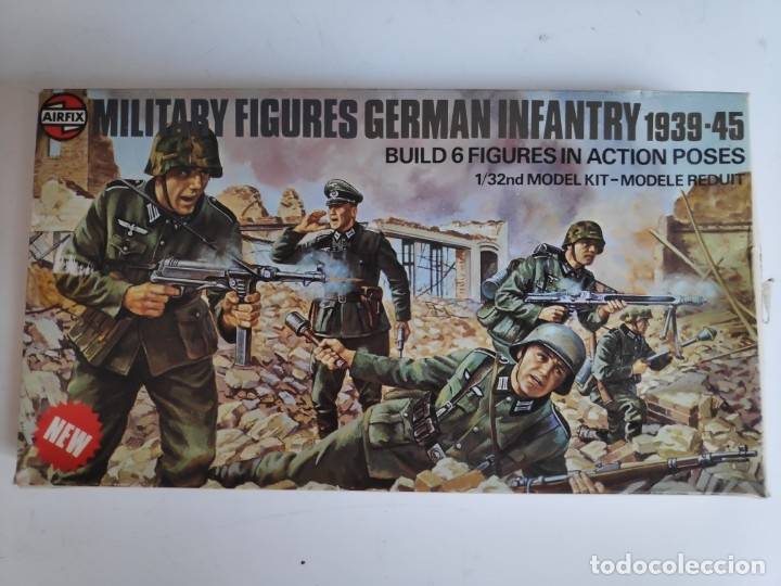 AIRFIX MULTIPOSE FIGURES 1/32 GERMAN INFANTRY (1976) (Juguetes - Modelismo y Radiocontrol - Maquetas - Militar)