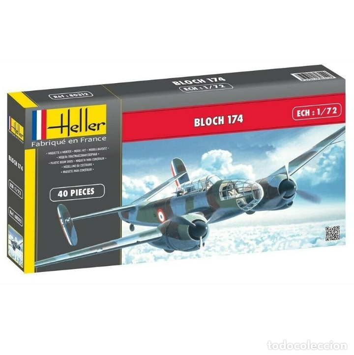 HELLER 80312 1:72 BOMBARDERO FRANCÉS BLOCH 174 (Juguetes - Modelismo y Radio Control - Maquetas - Aviones y Helicópteros)