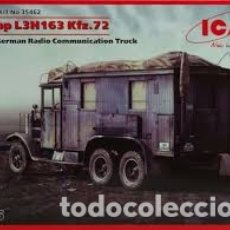 Maquetas: ICM - KRUPP L3H163 KFZ.72 WWII GERMAN RADIO COMUNICATION TRUCK 1/35 35462. Lote 174322269