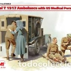 Maquetas: ICM - MODEL T 1917 AMBULANCE WITH US MEDICAL PERSONNEL 1/35 35662. Lote 174323213