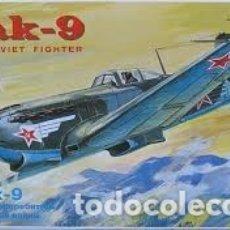 Maquetas: ICM - YAK 9 WWII SOVIET FIGHTER 1/72 72023. Lote 174324632