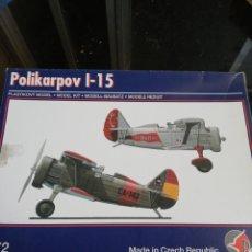 Maquetas: PAVLA MODELS 1/72 POLIKARPOV I-15. Lote 184597435