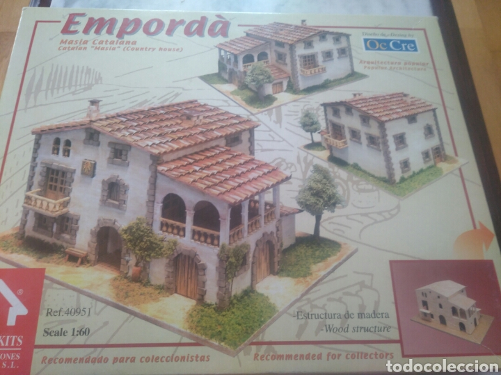 Maquetas: La masia catalana( emporda) kit de montage. Estructura de madera. - Foto 2 - 174399870