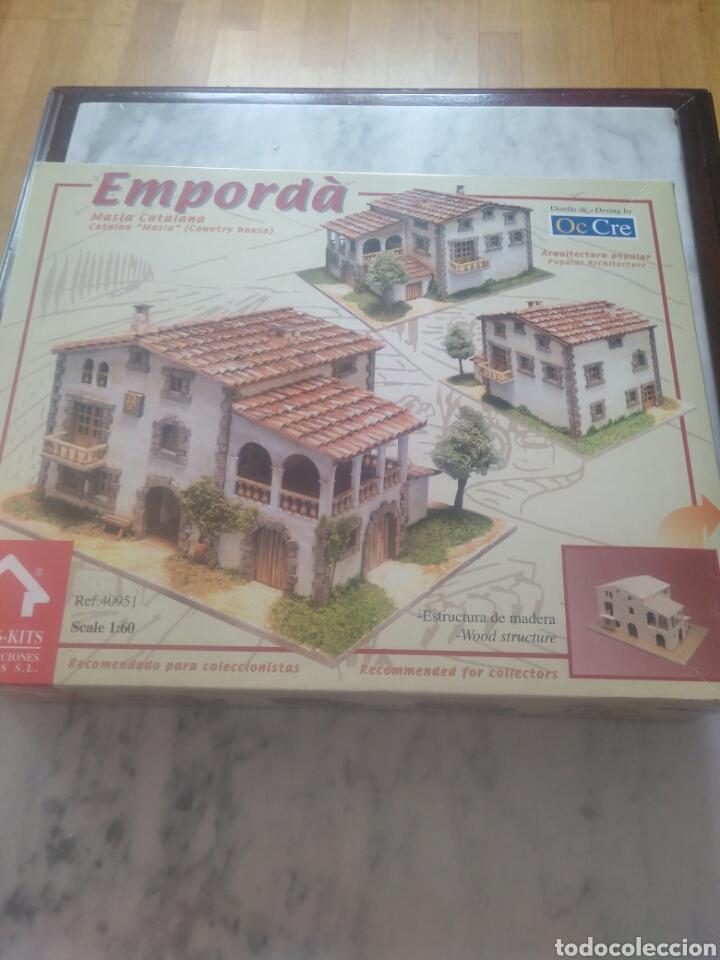 LA MASIA CATALANA( EMPORDA) KIT DE MONTAGE. ESTRUCTURA DE MADERA. (Juguetes - Modelismo y Radiocontrol - Maquetas - Construcciones)