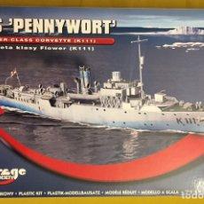 Maquetas: HMS PENNYWORT CORBETA CLASE FLOWER 1:350 MIRAGE HOBBY 350804 MAQUETA BARCO. Lote 174494265
