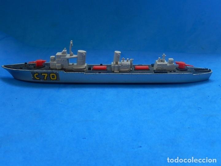 Maquetas: Dos barcos de guerra. Corvette (Corbeta) C70. Fabricados en Inglaterra por Matchbox, Lesney. 1976. - Foto 2 - 174513222