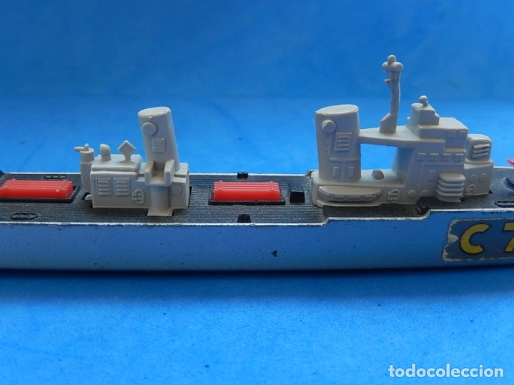 Maquetas: Dos barcos de guerra. Corvette (Corbeta) C70. Fabricados en Inglaterra por Matchbox, Lesney. 1976. - Foto 8 - 174513222