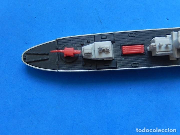 Maquetas: Dos barcos de guerra. Corvette (Corbeta) C70. Fabricados en Inglaterra por Matchbox, Lesney. 1976. - Foto 13 - 174513222