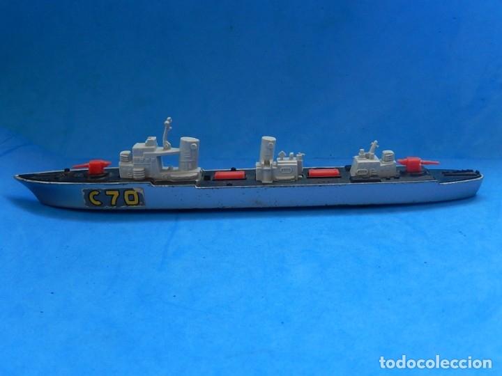 Maquetas: Dos barcos de guerra. Corvette (Corbeta) C70. Fabricados en Inglaterra por Matchbox, Lesney. 1976. - Foto 18 - 174513222