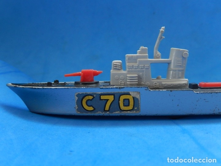 Maquetas: Dos barcos de guerra. Corvette (Corbeta) C70. Fabricados en Inglaterra por Matchbox, Lesney. 1976. - Foto 19 - 174513222