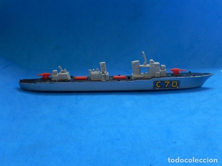 Maquetas: Dos barcos de guerra. Corvette (Corbeta) C70. Fabricados en Inglaterra por Matchbox, Lesney. 1976. - Foto 22 - 174513222