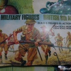Maquetas: AIRFIX - FIGURAS MULTIPOSE BRITISH 8TH ARMY 1/32. Lote 174717397