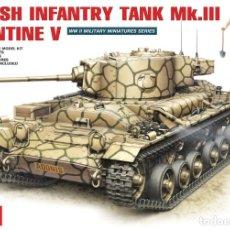 Maquetas: BRITISH INFANTRY TANK MK.III VALENTINE V 35106 1;35 MINIART. Lote 174997704