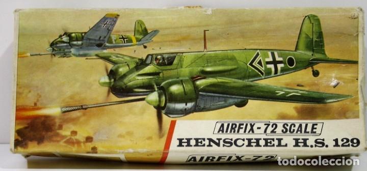 MAQUETA AIRFIX HENSCHEL H.S. 129 ESCALA 1/72 (Juguetes - Modelismo y Radio Control - Maquetas - Aviones y Helicópteros)