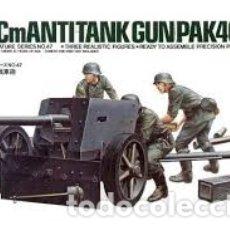 Maquetas: TAMIYA - 7,5 CM ANTI TANK GUN PAK 40/L46 1/35 35047. Lote 175464892