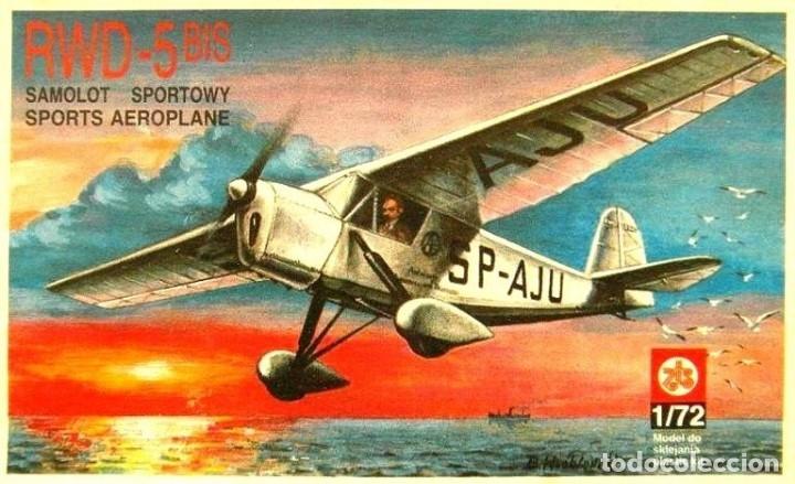 MAQUETA DE AVIÓN, AVIONETA SPORT - ZTS MOD. RWD-5 BIS-SCL. 1/72 HECHA EN POLONIA (Juguetes - Modelismo y Radio Control - Maquetas - Aviones y Helicópteros)