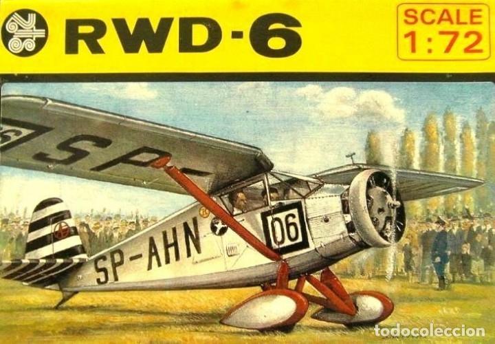 MAQUETA DE AVIÓN, AVIONETA SPORT - ZTS MOD. RWD-6 - SCL. 1/72 HECHA EN POLONIA (Juguetes - Modelismo y Radio Control - Maquetas - Aviones y Helicópteros)