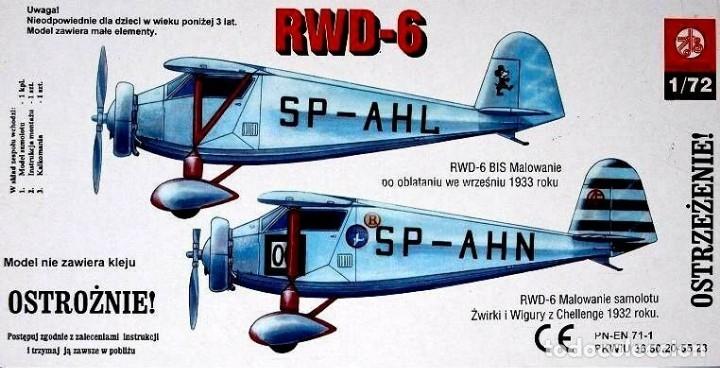 Maquetas: MAQUETA de avión, AVIONETA Sport - ZTS Mod. RWD-6 - SCL. 1/72 Hecha En Polonia - Foto 2 - 175545485