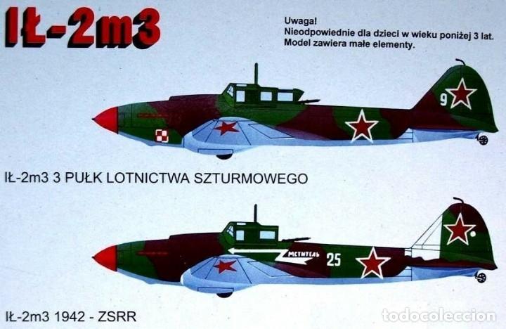 Maquetas: MAQUETA de avión militar - AVIACION POLACA WWII - ZTS Mod. IL-2m3 - 1/72 Hecho En Polonia - Foto 2 - 175545715