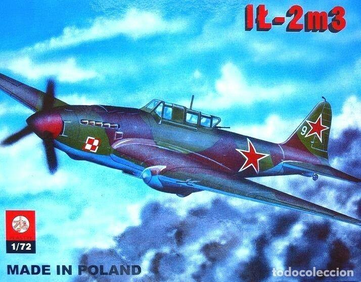 Maquetas: MAQUETA de avión militar - AVIACION POLACA WWII - ZTS Mod. IL-2m3 - 1/72 Hecho En Polonia - Foto 3 - 175545715