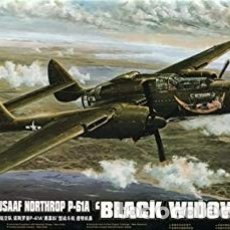 Maquetas: MAQUETA 1/48 - NORTHROP P-61A BLACK WIDOW GLASS NOSE GREAT WALL HOBBY - NO. L4806 - 1:48. Lote 175586987