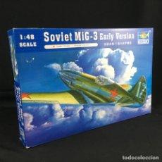 Maquetas: MAQUETA- AVION-SOVIET MIG-3-ESCALA 1/48-EARLY VERSION-TRUMPETER-NUEVO. Lote 175627253