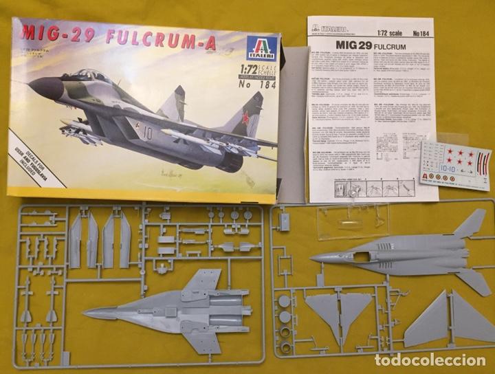Maquetas: MIG-29 FULCRUM 1:72 ITALERI 184 maqueta avión URSS YUGOSLAVIA - Foto 2 - 176465305
