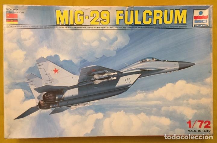 MIG-29 FULCRUM 1:72 ( SIN CALCAS ) ESCI 9058 MAQUETA AVION (Juguetes - Modelismo y Radio Control - Maquetas - Aviones y Helicópteros)
