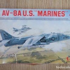 Maquetas: MAQUETA AVIÓN CAZA ESCI 1/72 AV-8A U.S. MARINES MADE IN ITALY 9051. Lote 176513604