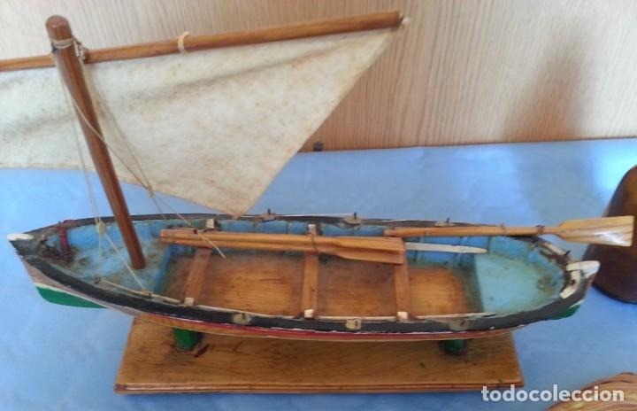 Maquetas: Barca a vela de pescador. Artesanal. Años 70 - Foto 2 - 195145986