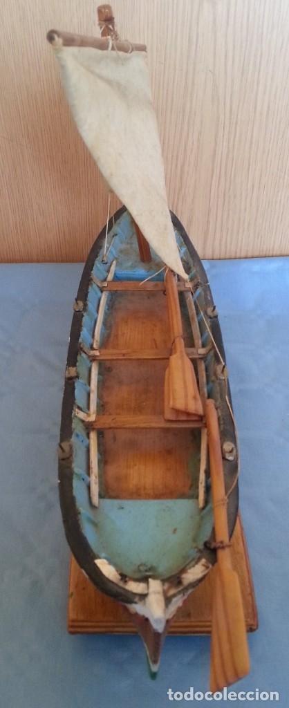 Maquetas: Barca a vela de pescador. Artesanal. Años 70 - Foto 3 - 195145986