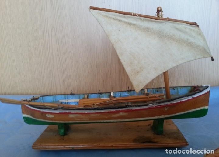 Maquetas: Barca a vela de pescador. Artesanal. Años 70 - Foto 4 - 195145986
