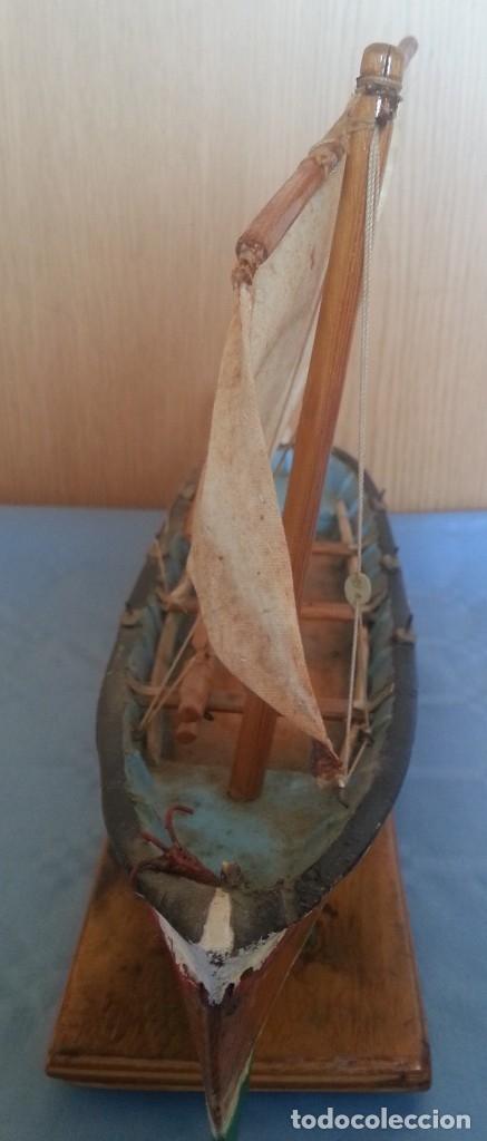 Maquetas: Barca a vela de pescador. Artesanal. Años 70 - Foto 5 - 195145986