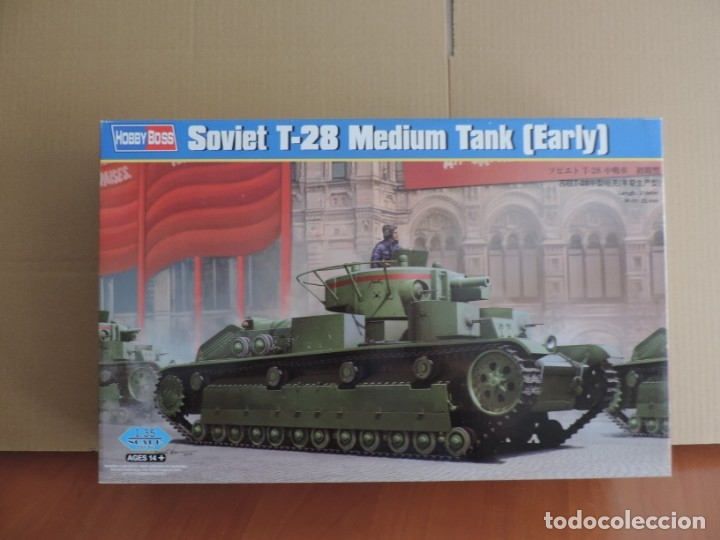 MAQUETA - HOBBY BOSS 83851 SOVIET T-28 MEDIUM TANK EARLY 1/35 (Juguetes - Modelismo y Radiocontrol - Maquetas - Militar)