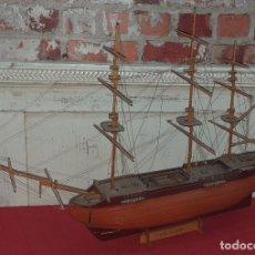 Maquetas: MAQUETA BARCO DE MADERA MEDIADOS SIGLO XX. Lote 176681325