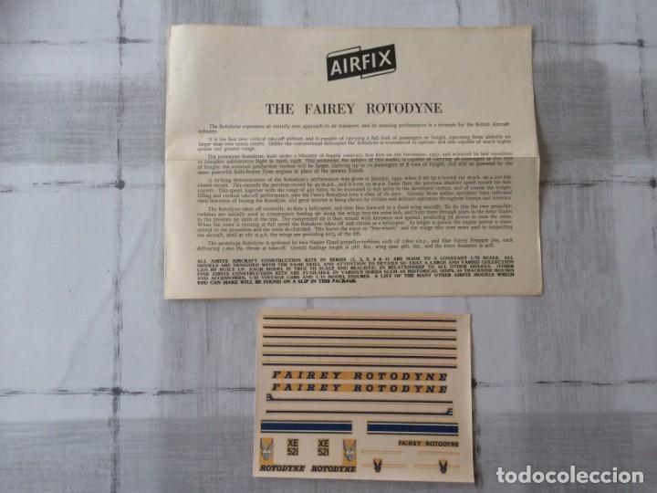 AIRFIX INSTRUCCIONES Y PEGATINAS FAIREY ROTODYNE ORIGINAL AÑOS 60S - INGLES (Juguetes - Modelismo y Radio Control - Maquetas - Aviones y Helicópteros)