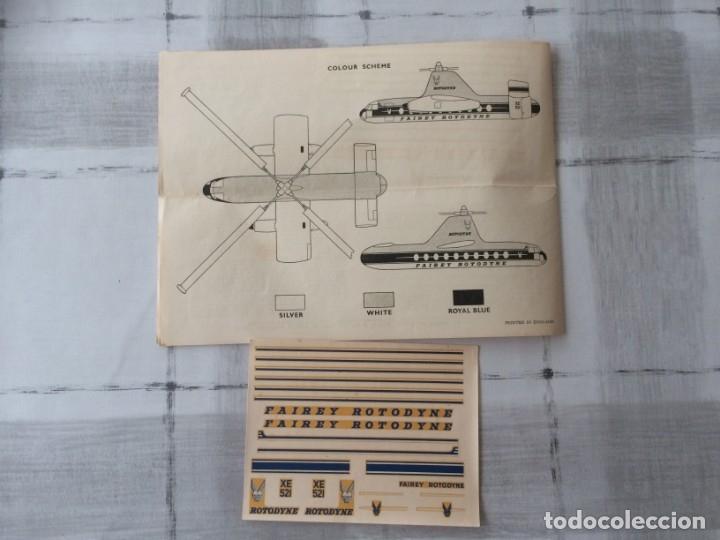 Maquetas: Airfix Instrucciones y pegatinas fairey rotodyne original años 60s - Ingles - Foto 3 - 176971344