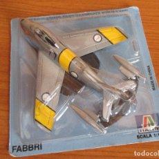 Macchiette: AVIONES: MAQUETA EN METAL ITALERI ESCALA 1/10 : MODELO DE AVION F-86 E SABRE. Lote 215411743