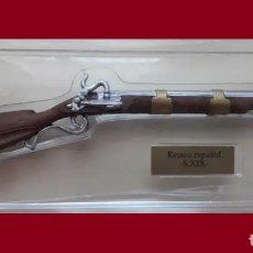 Maquetas: LOTE ARMA HISTORICA A ESCALA ED. SALVAT EN PLOMO - RETACO ESPAÑOL DEL XIX. Lote 177070982
