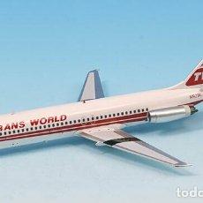 Maquetas: TWA TRANS WORLD DOUGLAS DC-9-30 INFLIGHT 1/200 932400 DESCATALOGADO. Lote 177297764