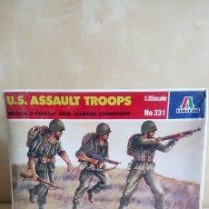 Maquettes: U.S. ASSAULT TROOPS. ITALERI Nº331. ESCALA 1/35. CAJA PRECINTADA. Lote 177336953