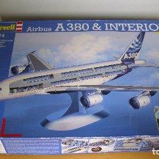 Maquetas: ANTIGUA MAQUETA REVELL AVIÓN AIRBUS A380 INTERIOR COMPLETA ESCALA 1:144 GRAN TAMAÑO. Lote 177495869