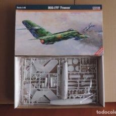 Maquetas: MAQUETAS - MISTERCRAFT F-02 MIG-17F FRESCO 1/48 + OEZ SU-7 BKL/BMK 1/48 (REEDITADA POR EDUARD). Lote 177566294