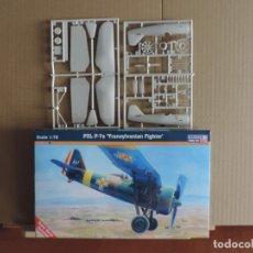 Maquetas: 7 MAQUETAS - MISTERCRAFT B-37 PZL P-7A 'TRANSYLVANIAN FIGHTER' 1/72 + 6 ZTS 1/72. Lote 177566894