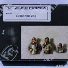 Maquetas: FIGURAS VERLINDEN US TANK CREW WWII ESCALA 1/35. Lote 177701318