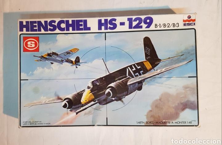 MAQUETA AVIÓN HENSCHEL HS-129 ESCALA 1/48 DE ESCI, SIN DESTROQUELAR (Juguetes - Modelismo y Radio Control - Maquetas - Aviones y Helicópteros)