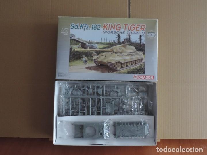 MAQUETA - DRAGON 7231 SD.KFZ. 182 KING TIGER (PORSCHE TURRET) 1/72 CASCO DE METAL (Juguetes - Modelismo y Radiocontrol - Maquetas - Militar)