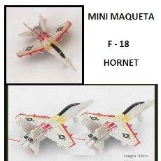 Maquetas: LOTE MAQUETA DE AVION - F 18 HORNET - US NAVY - LONG. 6,5X5 CM. Lote 177885793